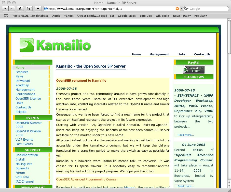 Kamailio logos